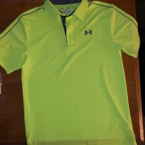 Men's Under Armour Heat Gear Loose Fit Polo Sz Sm